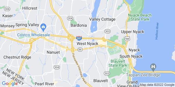 Map of West Nyack, NY