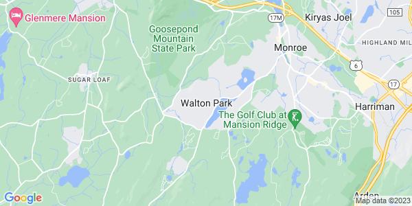Map of Walton Park, NY