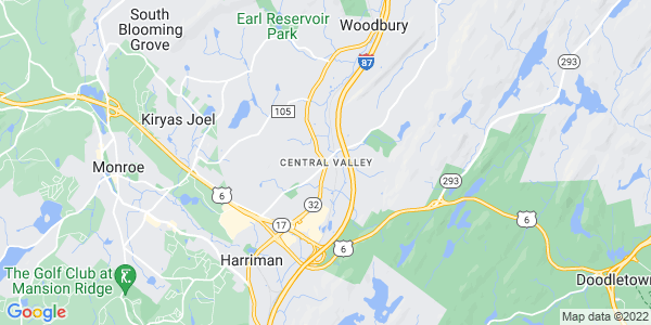 Map of Central Valley, NY