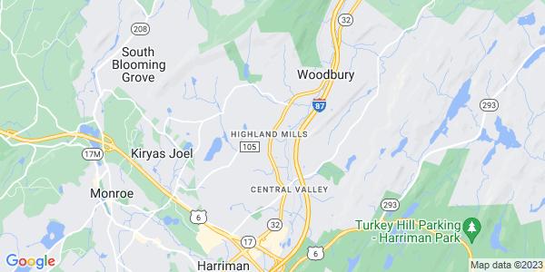Map of Highland Mills, NY