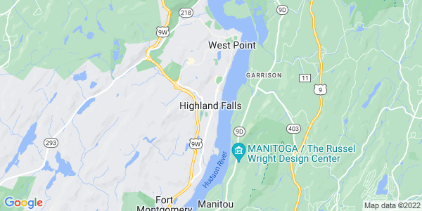 Map of Highland Falls, NY