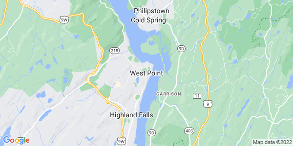 Map of West Point, NY