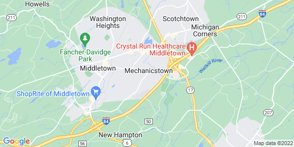 Map of Mechanicstown, NY