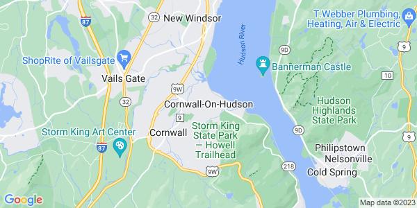 Map of Cornwall-on-Hudson, NY