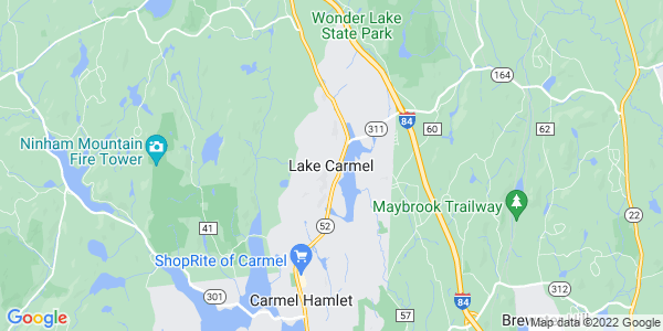 Map of Lake Carmel, NY