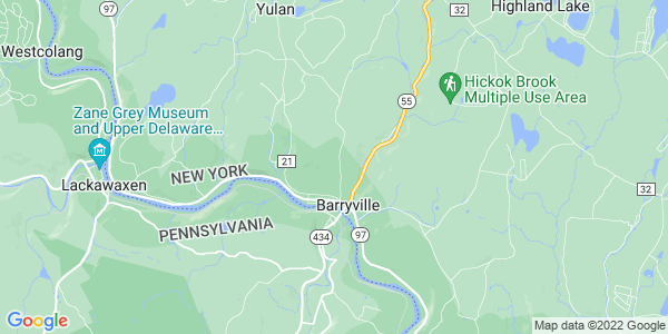 Map of Barryville, NY