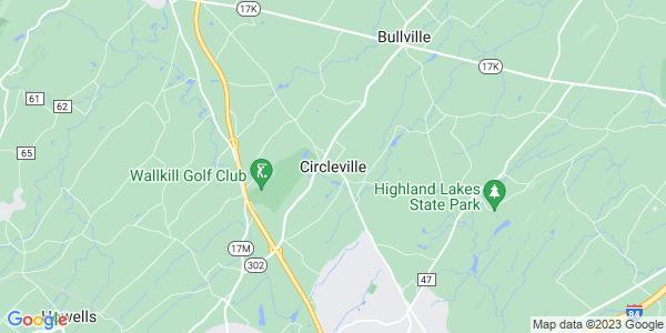 Map of Circleville, NY