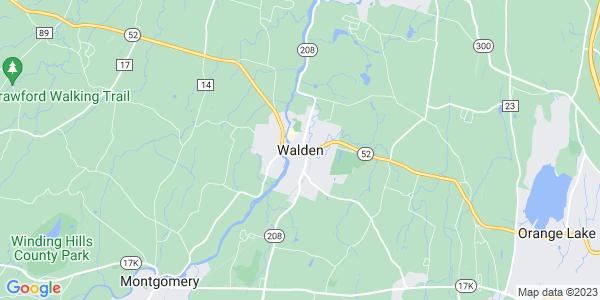 Map of Walden, NY