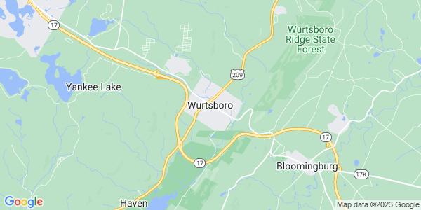 Map of Wurtsboro, NY