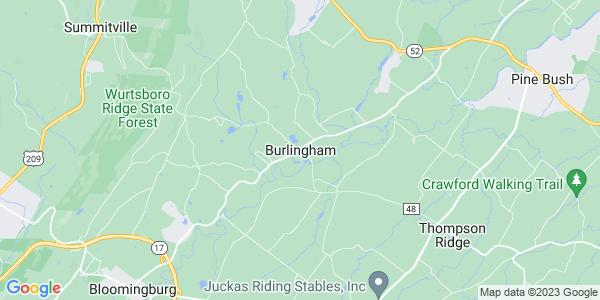 Map of Burlingham, NY