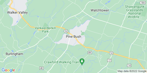 Map of Pine Bush, NY