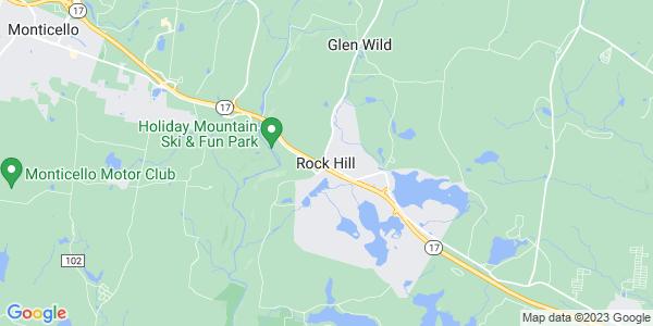 Map of Rock Hill, NY