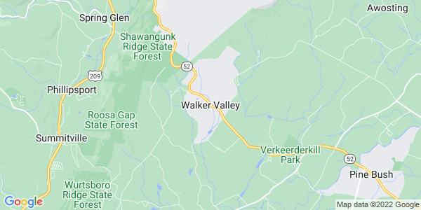 Map of Walker Valley, NY