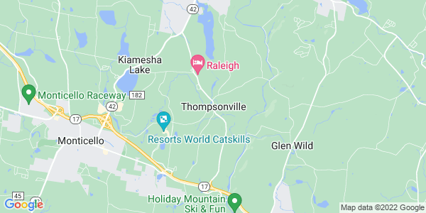 Map of Thompsonville, NY