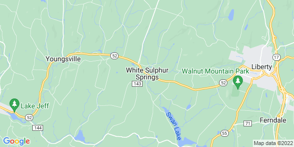 Map of White Sulphur Springs, NY