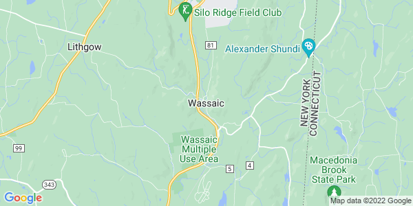 Map of Wassaic, NY