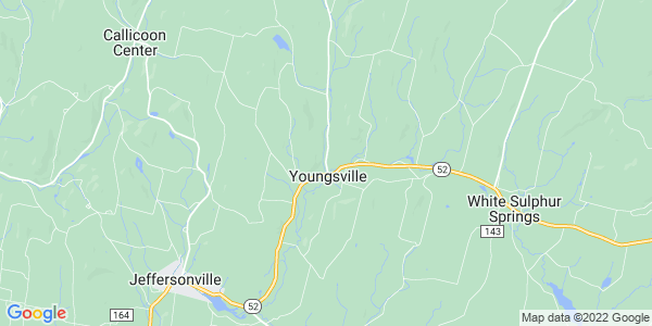 Map of Youngsville, NY