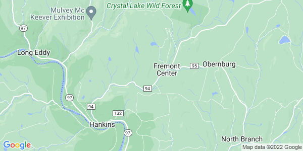Map of Hankins, NY