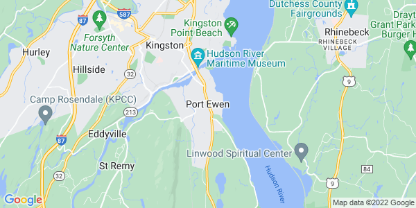 Map of Port Ewen, NY