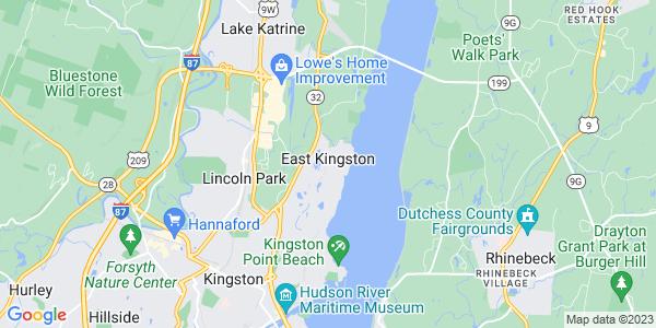 Map of East Kingston, NY