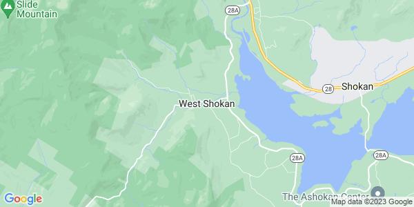 Map of West Shokan, NY