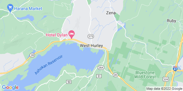 Map of West Hurley, NY