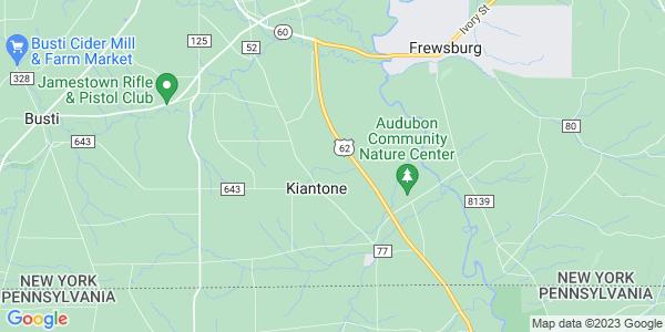 Map of Kiantone, NY