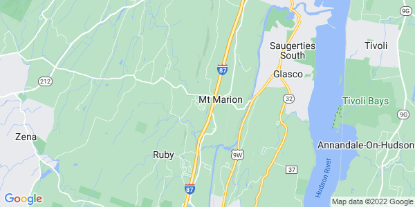 Map of Mount Marion, NY