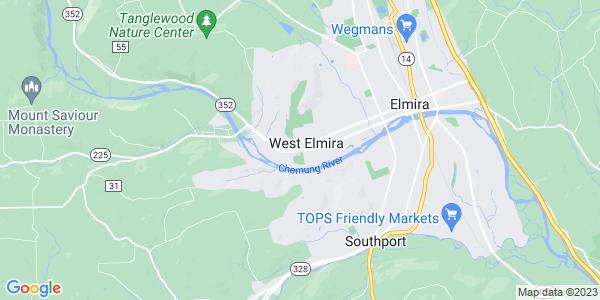 Map of West Elmira, NY