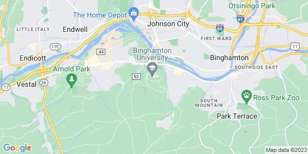 Map of Binghamton University, NY