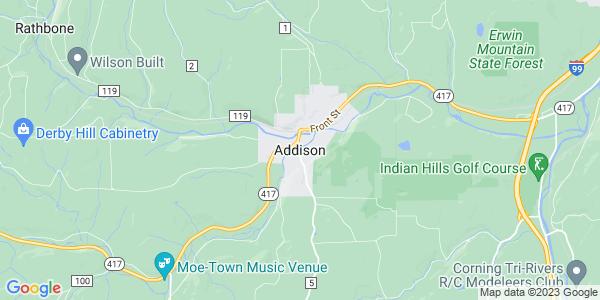 Map of Addison, NY