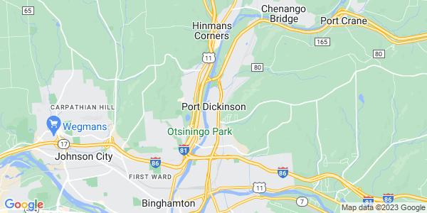 Map of Port Dickinson, NY