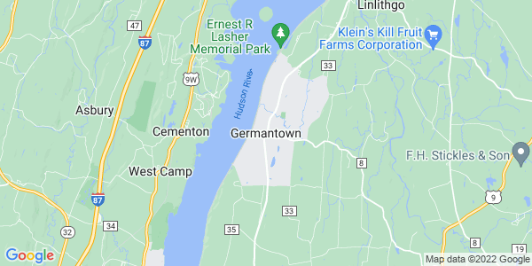 Map of Germantown CDP, NY