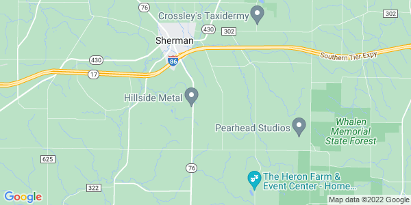 Map of Sherman Town, NY