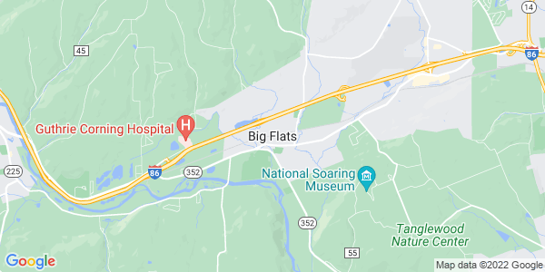Map of Big Flats CDP, NY