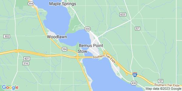 Map of Bemus Point, NY