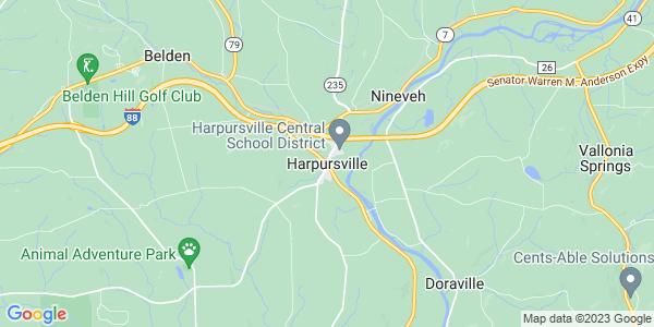 Map of Harpursville, NY