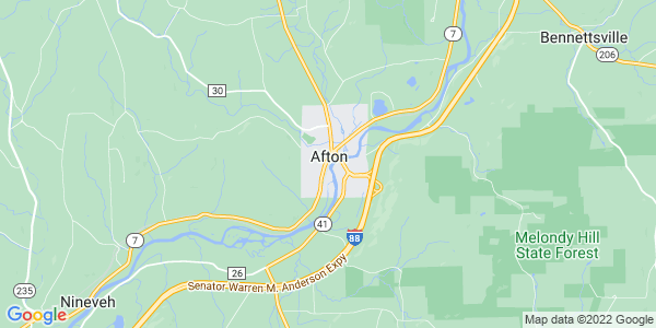 Map of Afton Town, NY