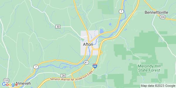 Map of Afton, NY