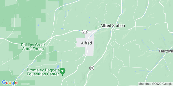 Map of Alfred, NY
