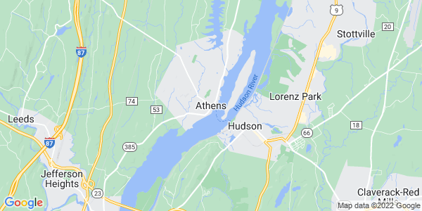 Map of Athens, NY