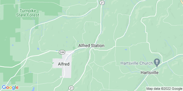 Map of Alfred Station, NY