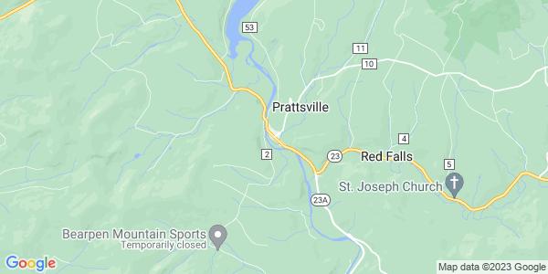 Map of Prattsville CDP, NY