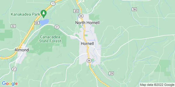 Map of Hornell, NY