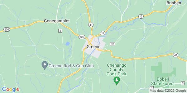 Map of Greene, NY