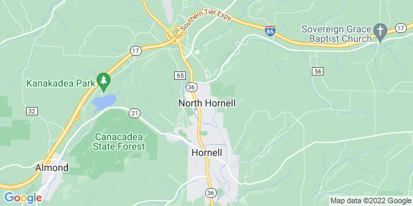 Map of North Hornell, NY