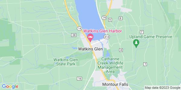 Map of Watkins Glen, NY