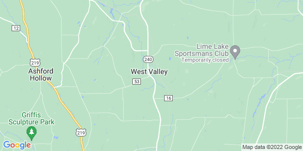 Map of West Valley, NY