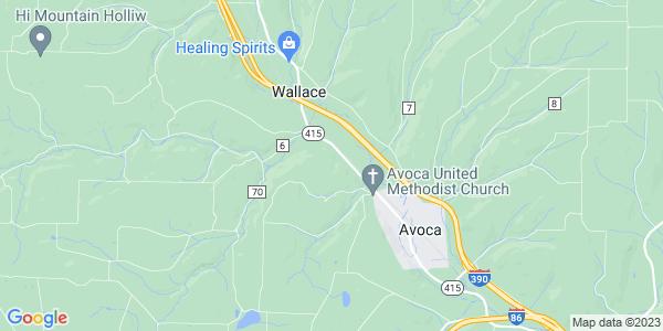 Map of Avoca Town, NY