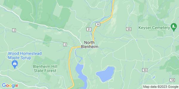 Map of North Blenheim, NY